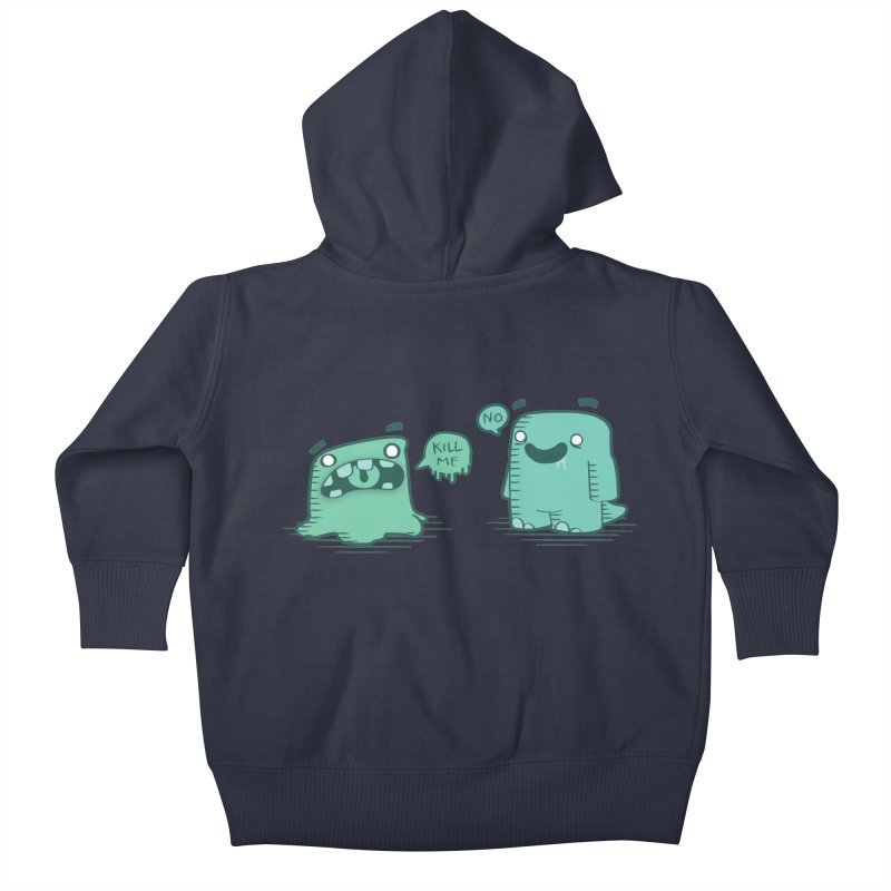 Monday Kids Baby Zip-Up Hoody by pepemaracas's Artist Shop