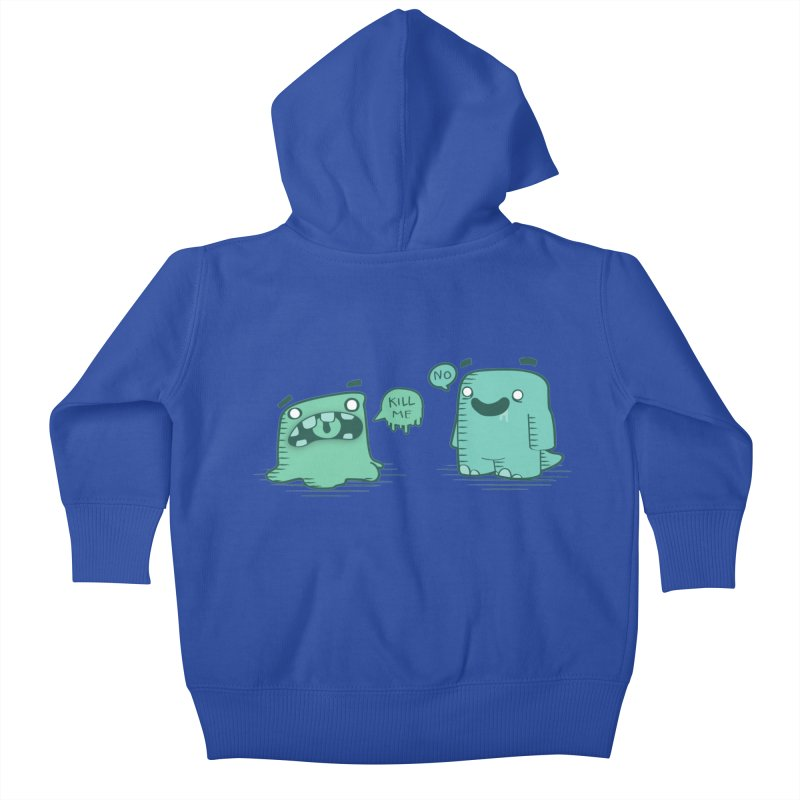 Monday Kids Baby Zip-Up Hoody by pepemaracas's Artist Shop