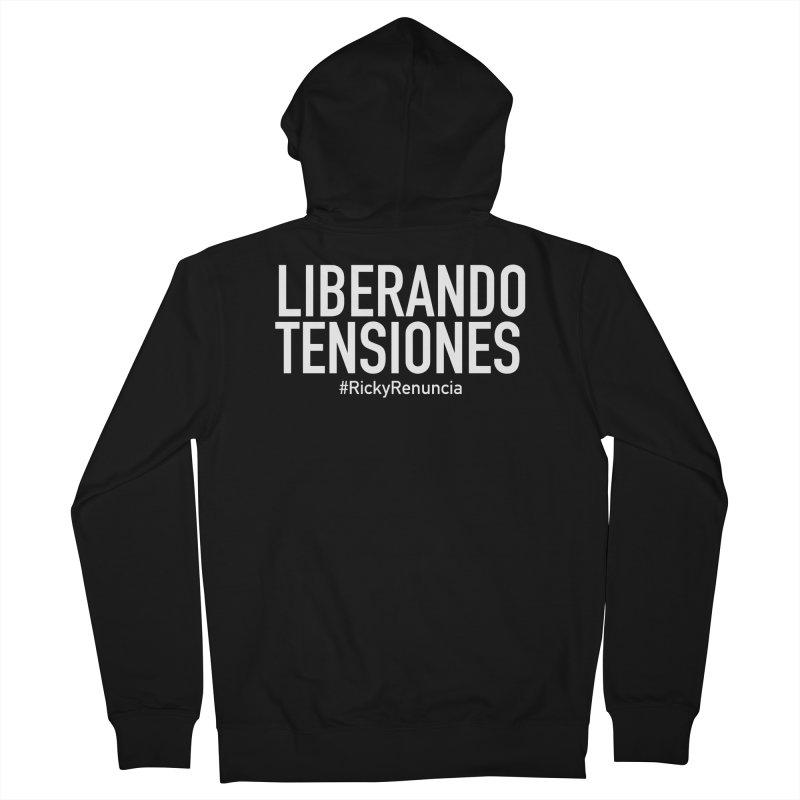 Liberando Tensiones Men's French Terry Zip-Up Hoody by La Tiendita Pepito