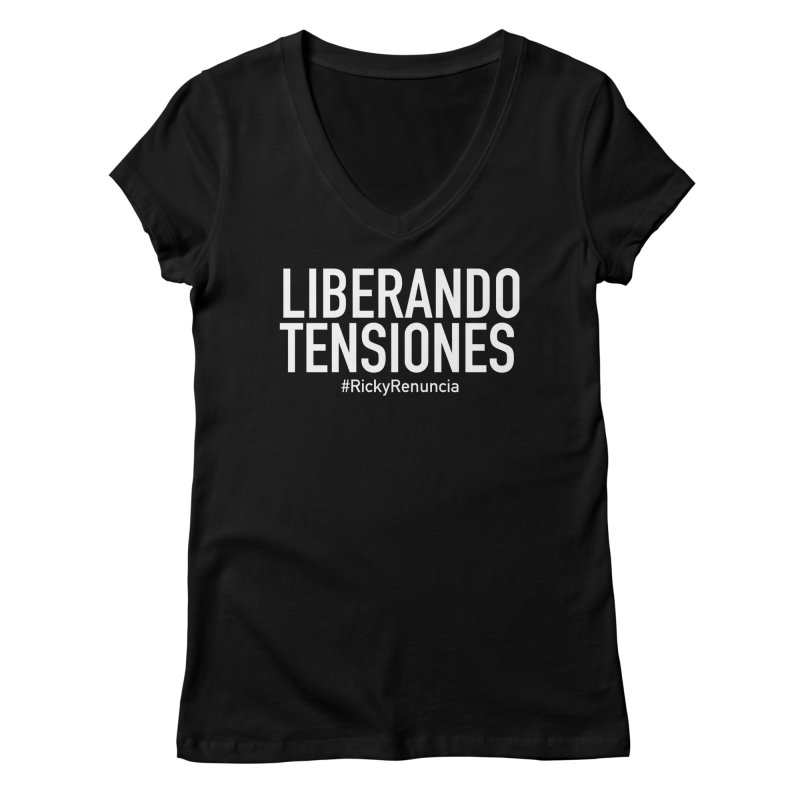 Liberando Tensiones Women's Regular V-Neck by La Tiendita Pepito