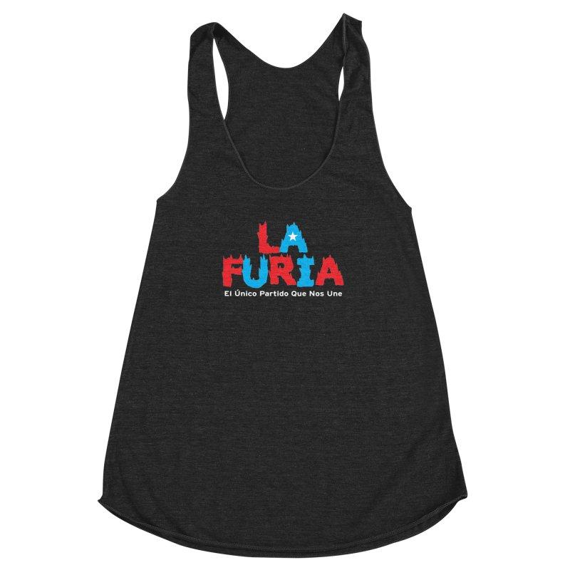 Furia Women's Racerback Triblend Tank by La Tiendita Pepito