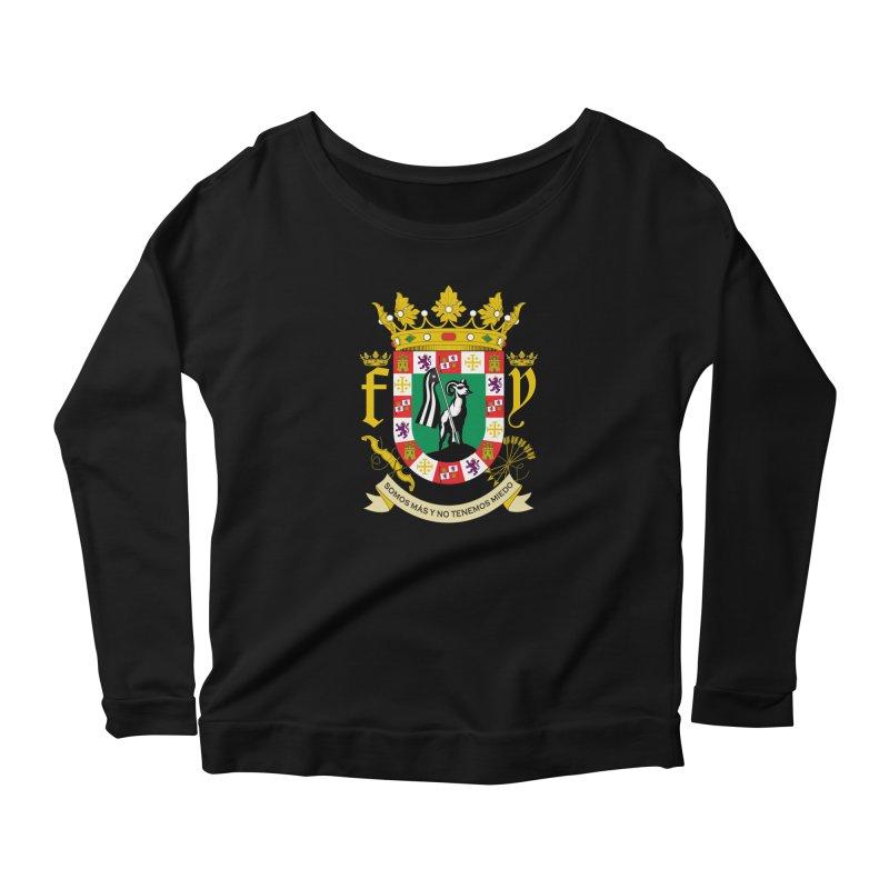 Escudo Women's Scoop Neck Longsleeve T-Shirt by La Tiendita Pepito
