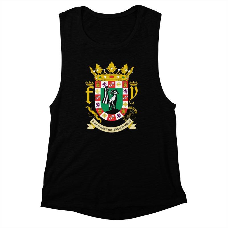 Escudo Women's Muscle Tank by La Tiendita Pepito