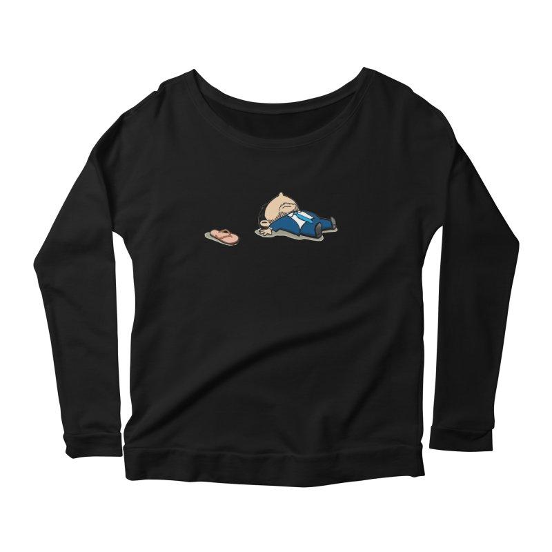 ChanclaRicky Women's Scoop Neck Longsleeve T-Shirt by La Tiendita Pepito
