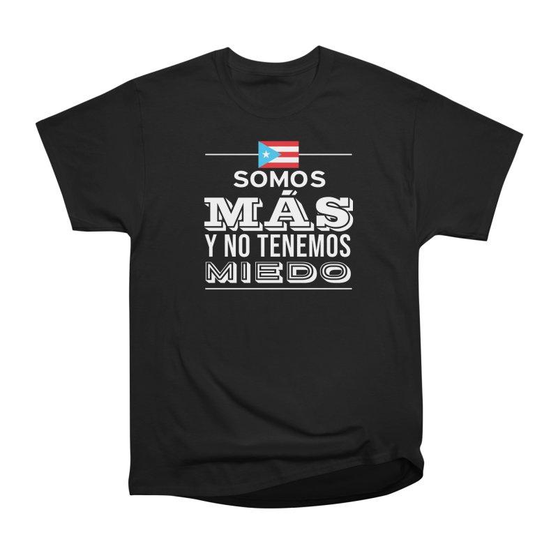 SOMOS MÁS Women's Heavyweight Unisex T-Shirt by La Tiendita Pepito