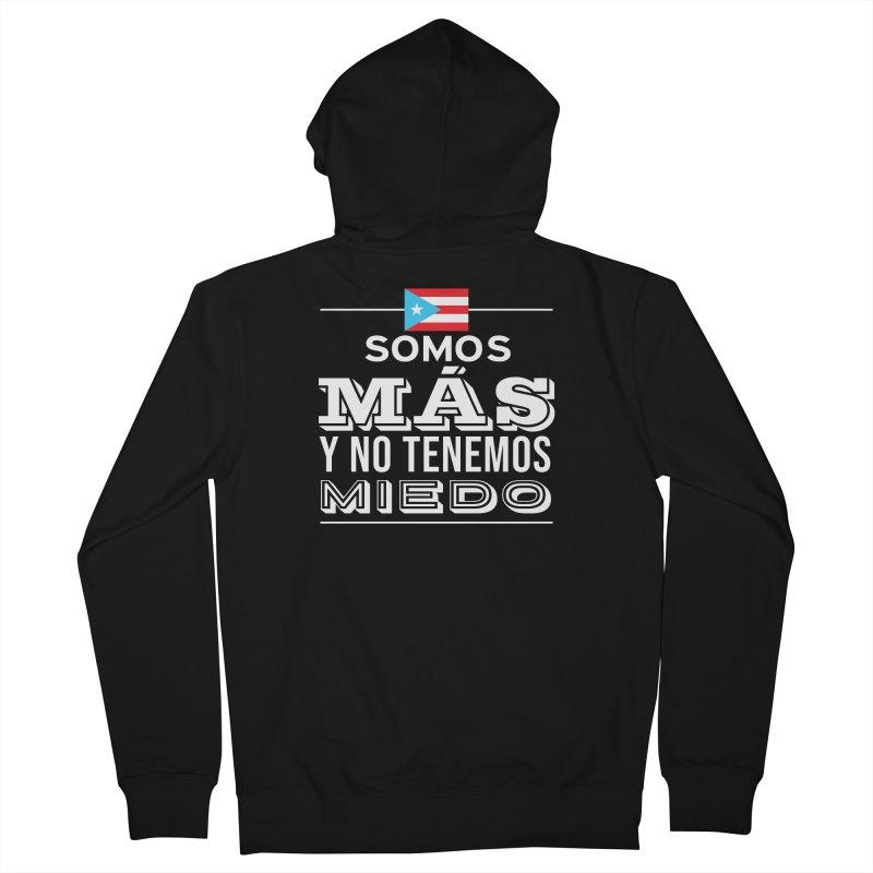 SOMOS MÁS Men's French Terry Zip-Up Hoody by La Tiendita Pepito
