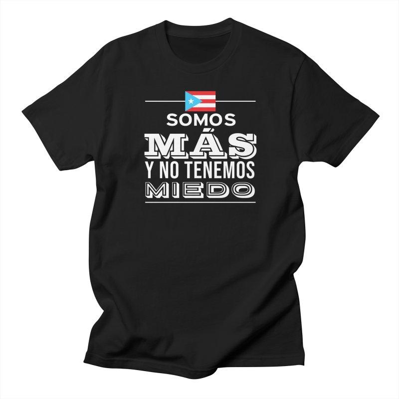 SOMOS MÁS Men's Regular T-Shirt by La Tiendita Pepito