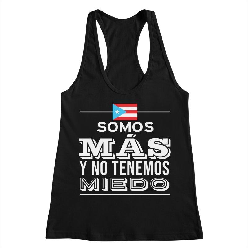 SOMOS MÁS Women's Racerback Tank by La Tiendita Pepito