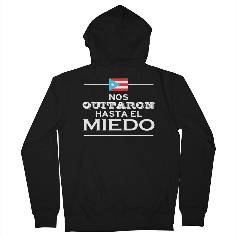 SIN MIEDO Men's French Terry Zip-Up Hoody by La Tiendita Pepito