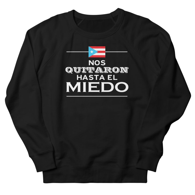SIN MIEDO Men's French Terry Sweatshirt by La Tiendita Pepito