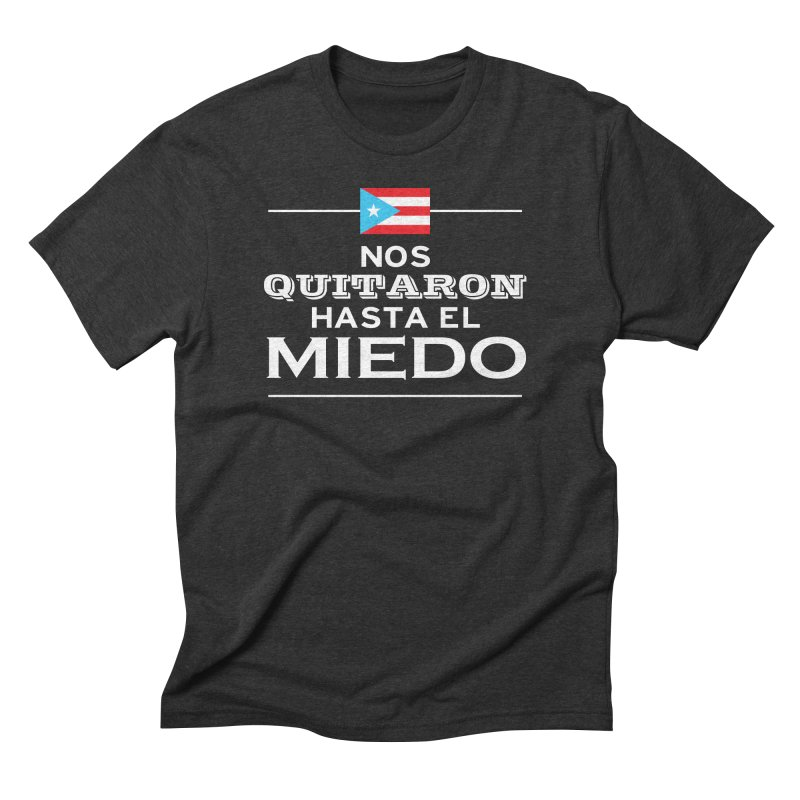 SIN MIEDO Men's Triblend T-Shirt by La Tiendita Pepito