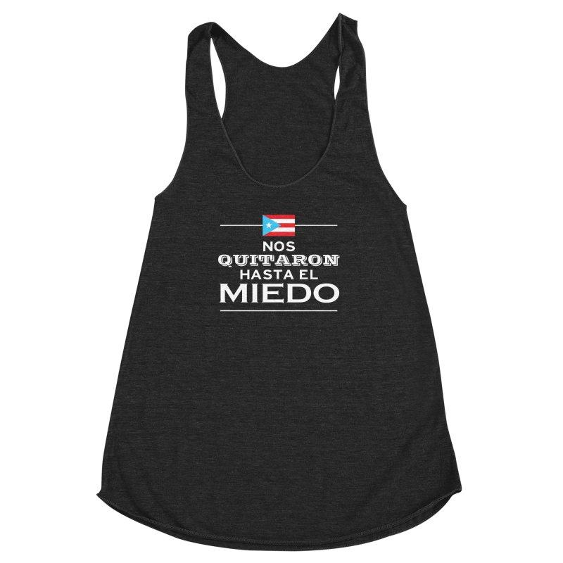 SIN MIEDO Women's Racerback Triblend Tank by La Tiendita Pepito