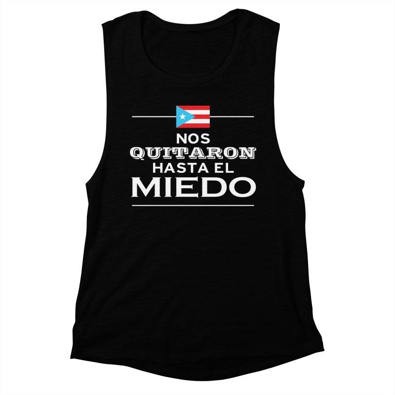 SIN MIEDO Women's Muscle Tank by La Tiendita Pepito