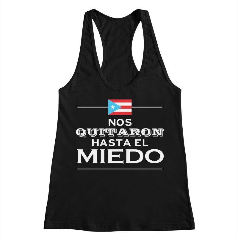 SIN MIEDO Women's Racerback Tank by La Tiendita Pepito