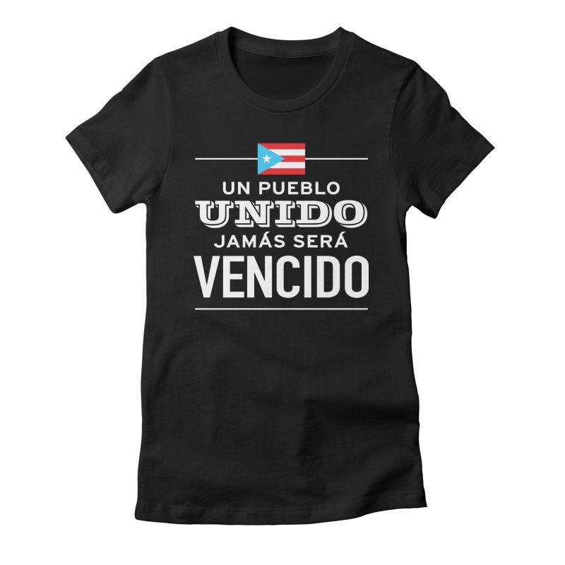UNIDOS Women's Fitted T-Shirt by La Tiendita Pepito