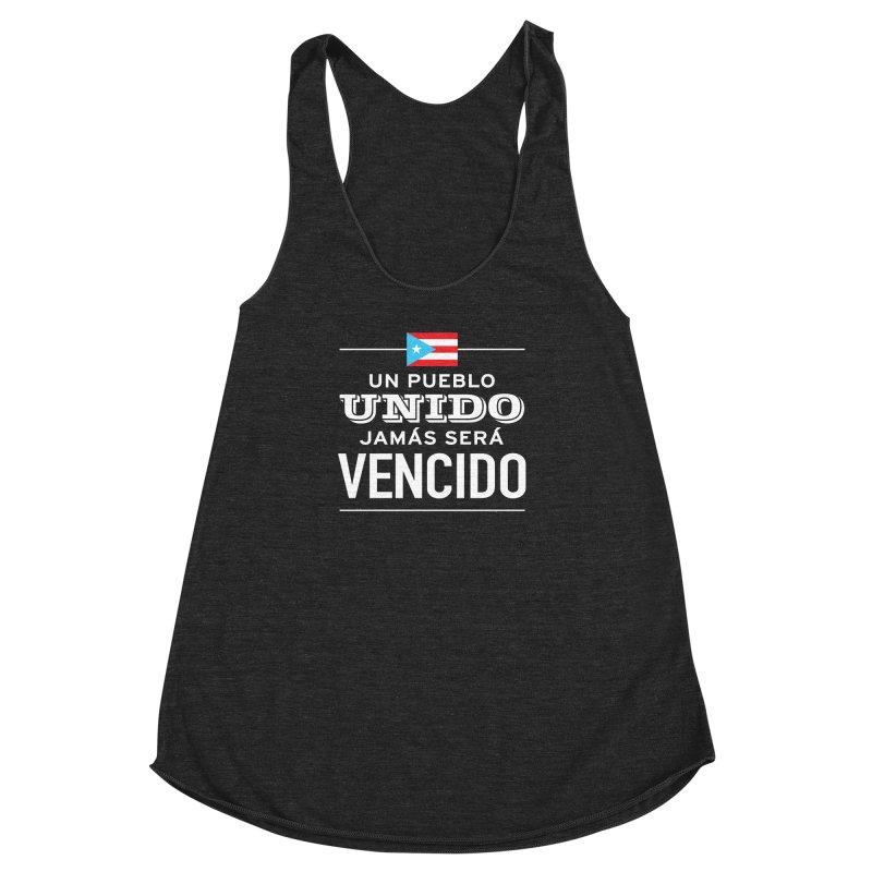 UNIDOS Women's Racerback Triblend Tank by La Tiendita Pepito