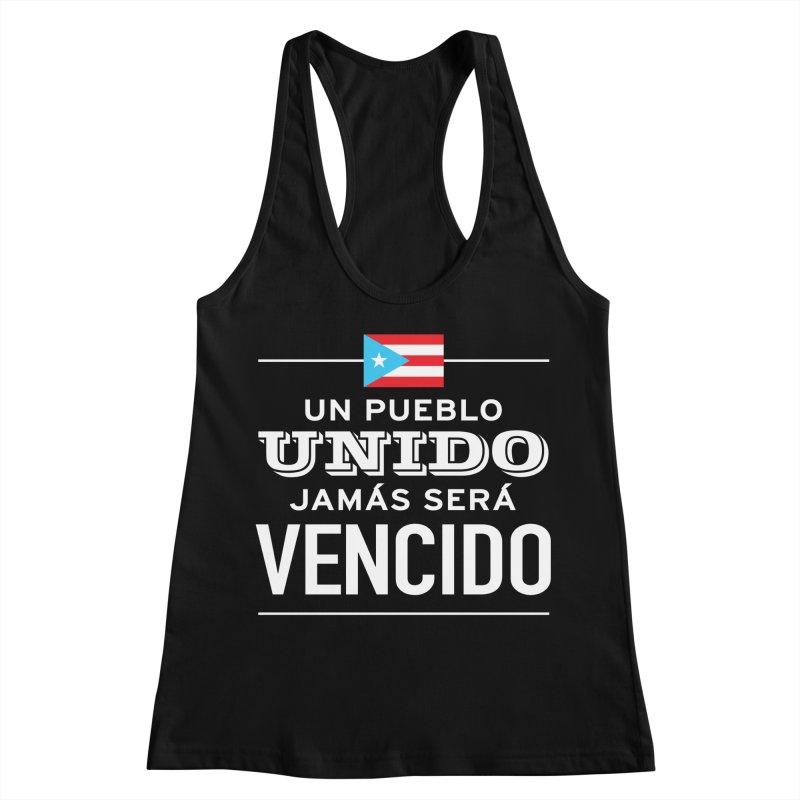 UNIDOS Women's Racerback Tank by La Tiendita Pepito