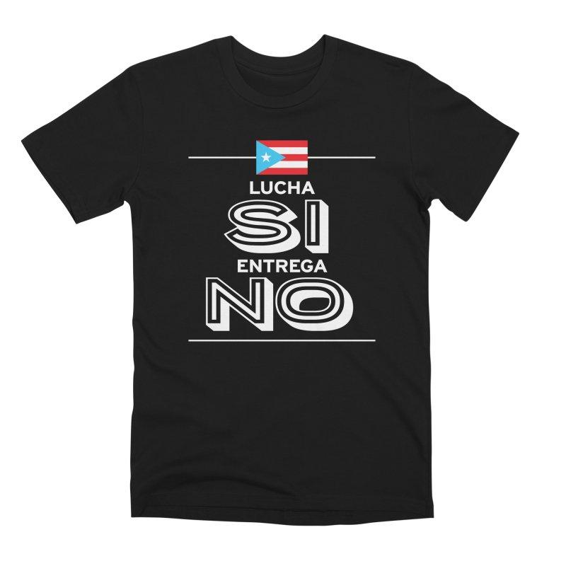 LUCHA SI Men's Premium T-Shirt by La Tiendita Pepito