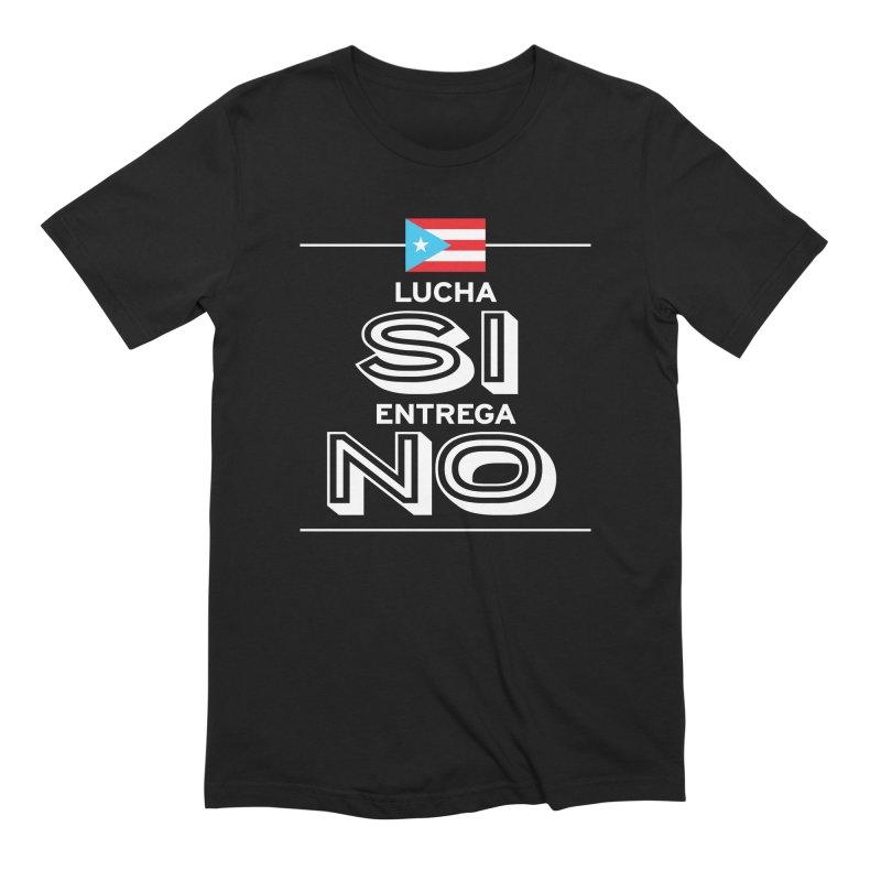 LUCHA SI Men's Extra Soft T-Shirt by La Tiendita Pepito