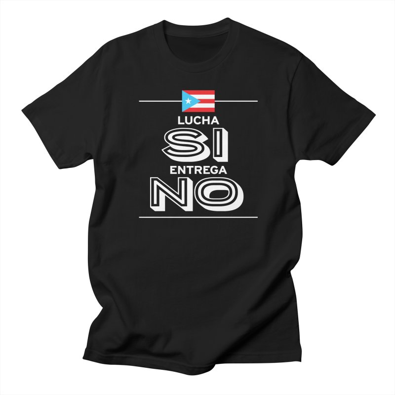 LUCHA SI Men's Regular T-Shirt by La Tiendita Pepito