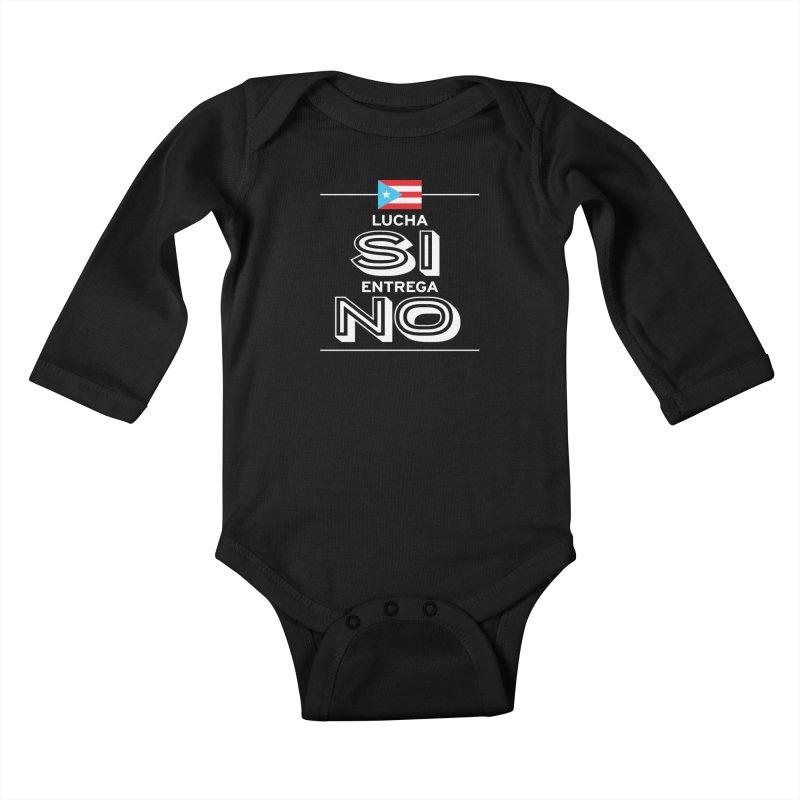 LUCHA SI Kids Baby Longsleeve Bodysuit by La Tiendita Pepito
