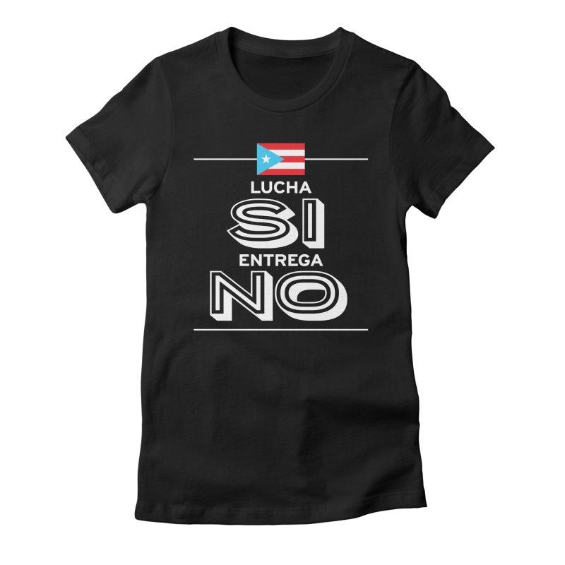 LUCHA SI Women's Fitted T-Shirt by La Tiendita Pepito