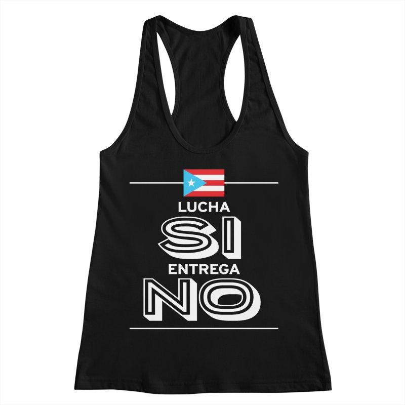 LUCHA SI Women's Racerback Tank by La Tiendita Pepito