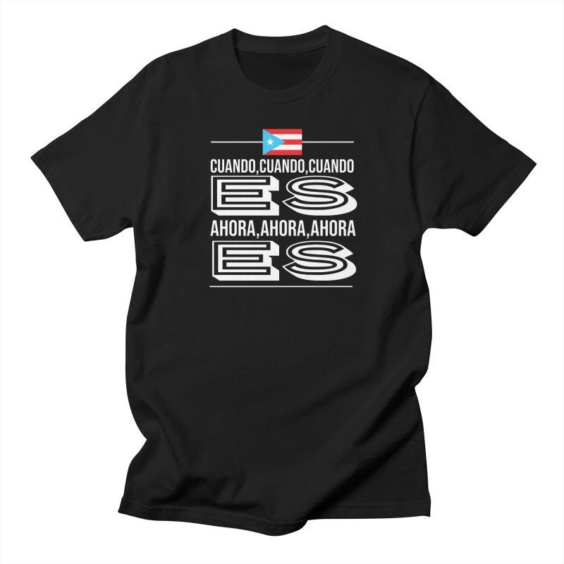 AHORA ES Men's Regular T-Shirt by La Tiendita Pepito