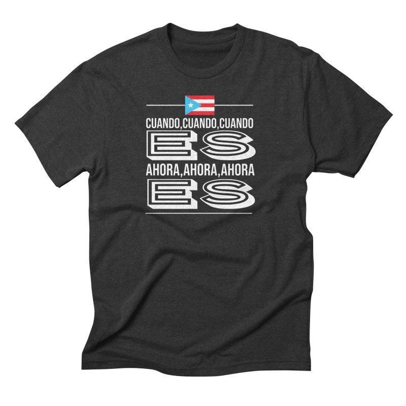 AHORA ES Men's Triblend T-Shirt by La Tiendita Pepito