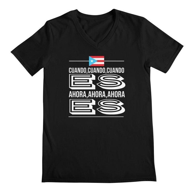 AHORA ES Men's Regular V-Neck by La Tiendita Pepito
