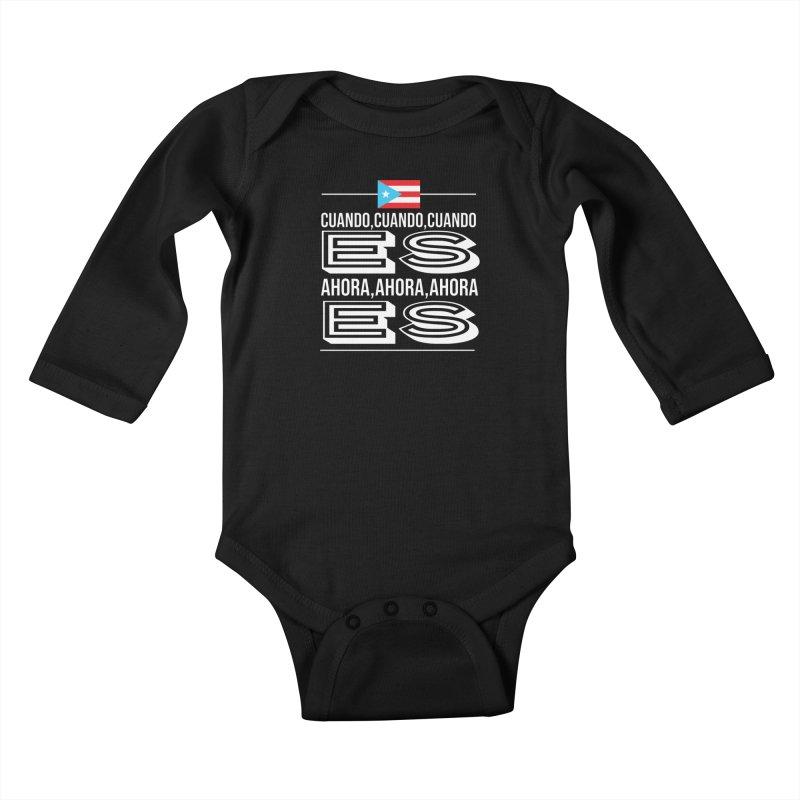 AHORA ES Kids Baby Longsleeve Bodysuit by La Tiendita Pepito