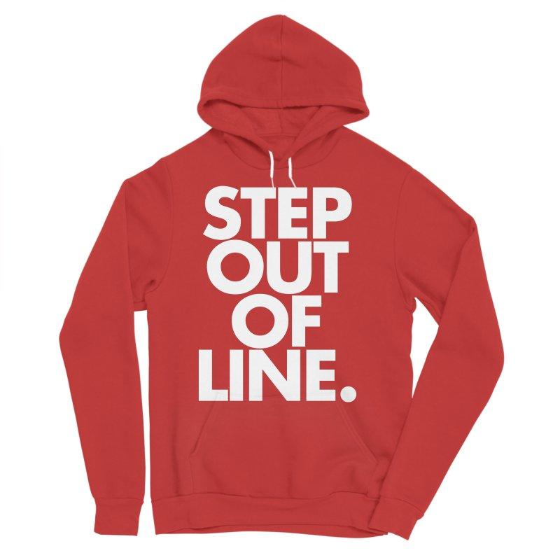 STEP OUT OF LINE-reverse Men's Sponge Fleece Pullover Hoody by La Tiendita Pepito