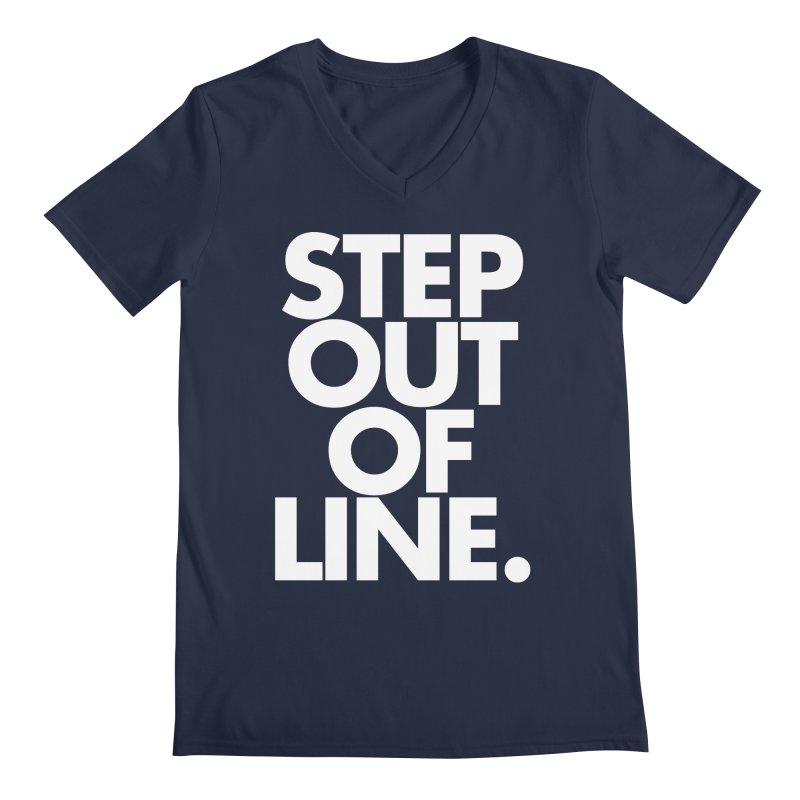 STEP OUT OF LINE-reverse Men's Regular V-Neck by La Tiendita Pepito