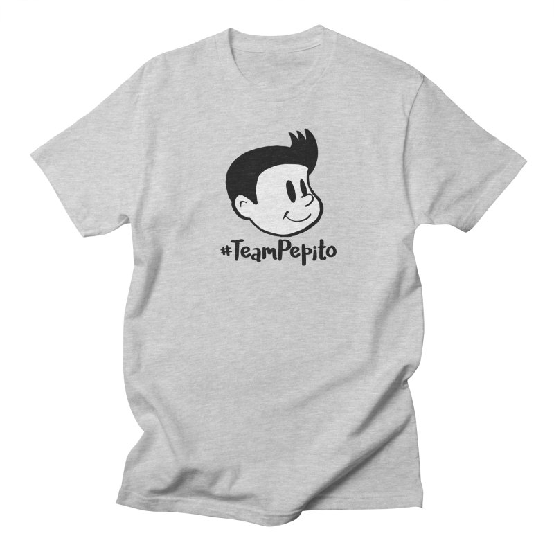#TeamPepito in Men's Regular T-Shirt Heather Grey by La Tiendita Pepito
