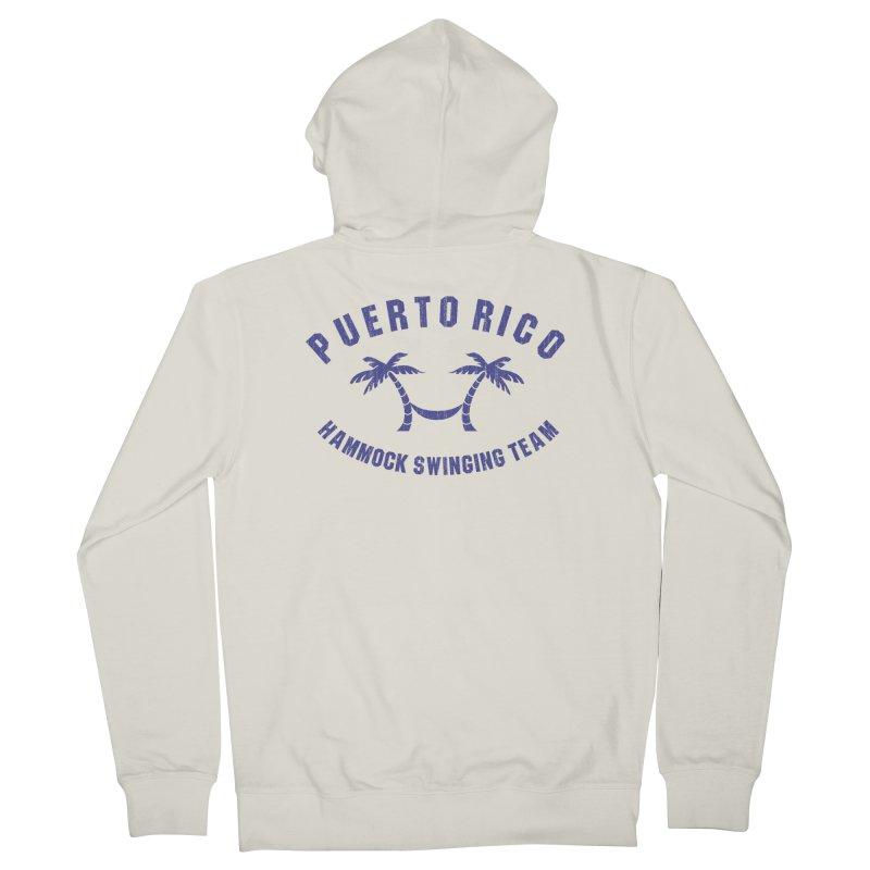 Puerto Rico Hammock Swinging Team Men's French Terry Zip-Up Hoody by La Tiendita Pepito