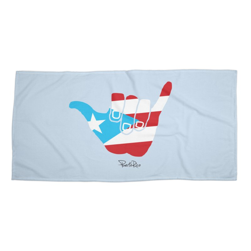 Surfin' Puerto Rico Accessories Beach Towel by La Tiendita Pepito