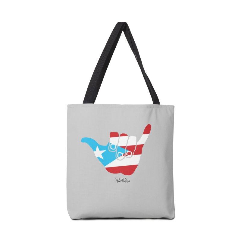 Surfin' Puerto Rico in Tote Bag by La Tiendita Pepito