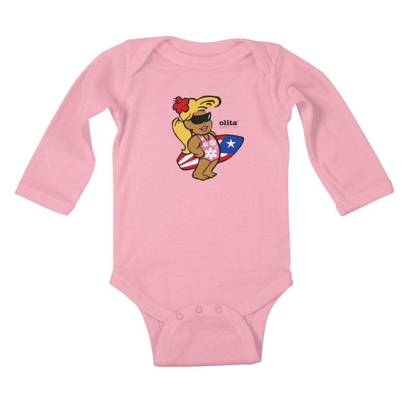 Olita in Kids Baby Longsleeve Bodysuit Light Pink by La Tiendita Pepito
