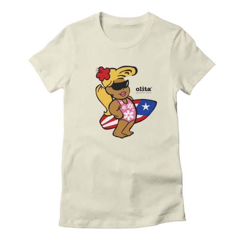 Olita in Women's Fitted T-Shirt Natural by La Tiendita Pepito