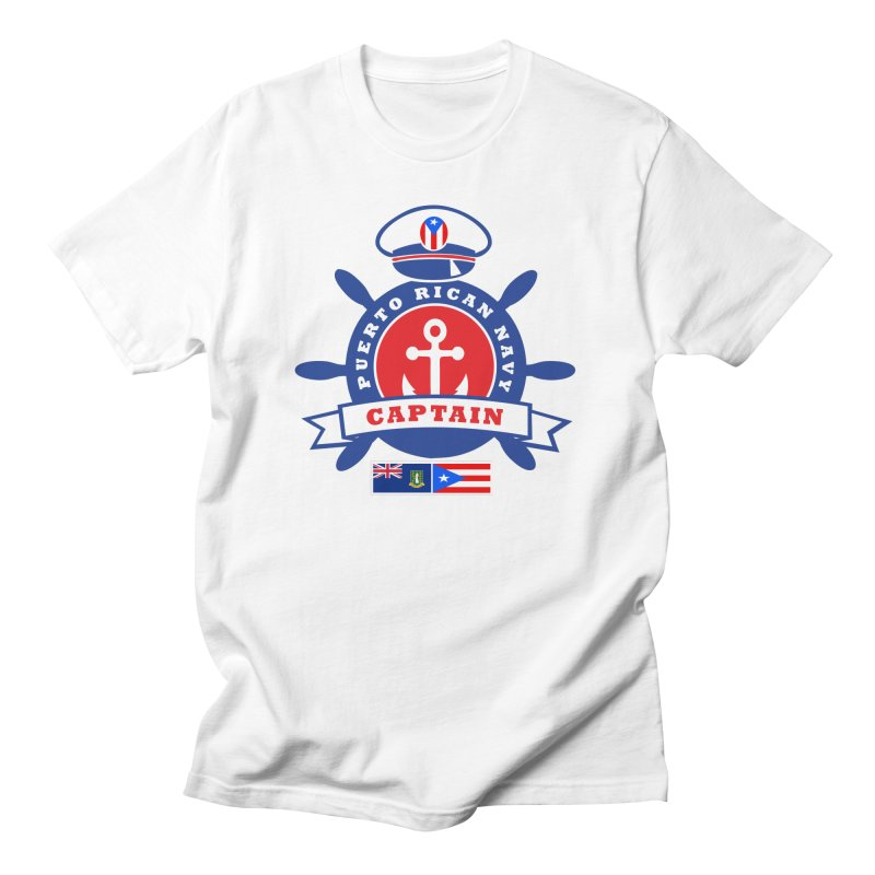 Puerto Rican Navy in Men's Regular T-Shirt White by La Tiendita Pepito