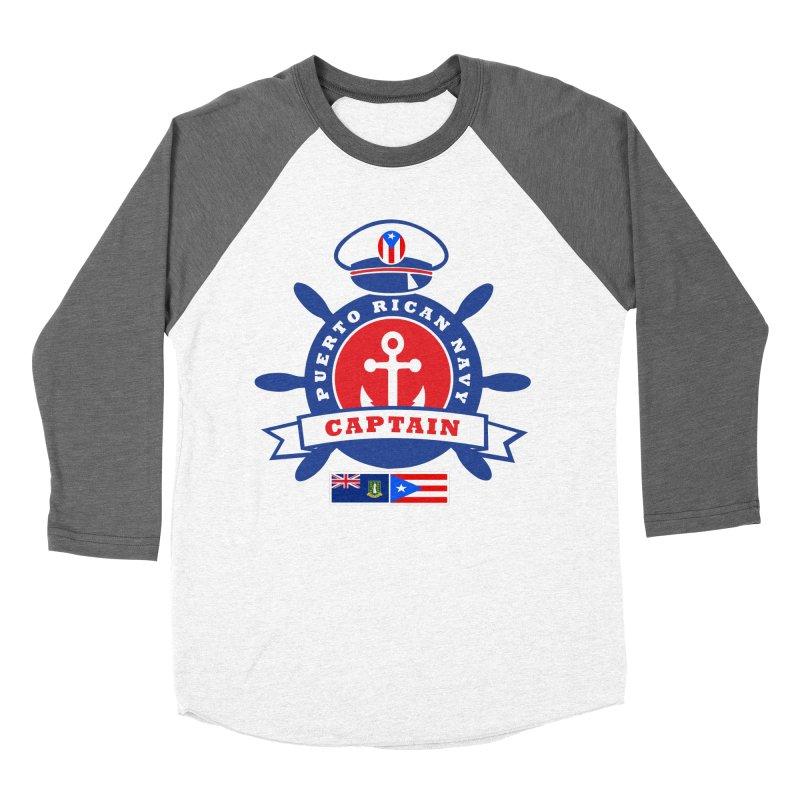 Puerto Rican Navy Women's Baseball Triblend Longsleeve T-Shirt by La Tiendita Pepito