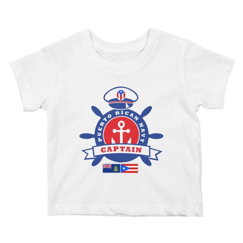 Puerto Rican Navy Kids Baby T-Shirt by La Tiendita Pepito
