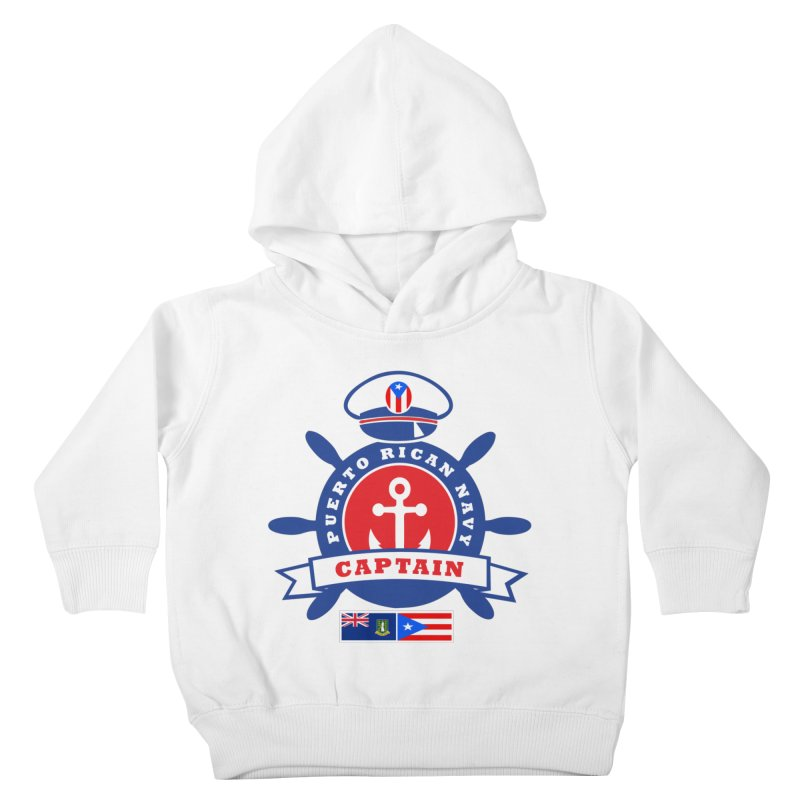 Puerto Rican Navy Kids Toddler Pullover Hoody by La Tiendita Pepito