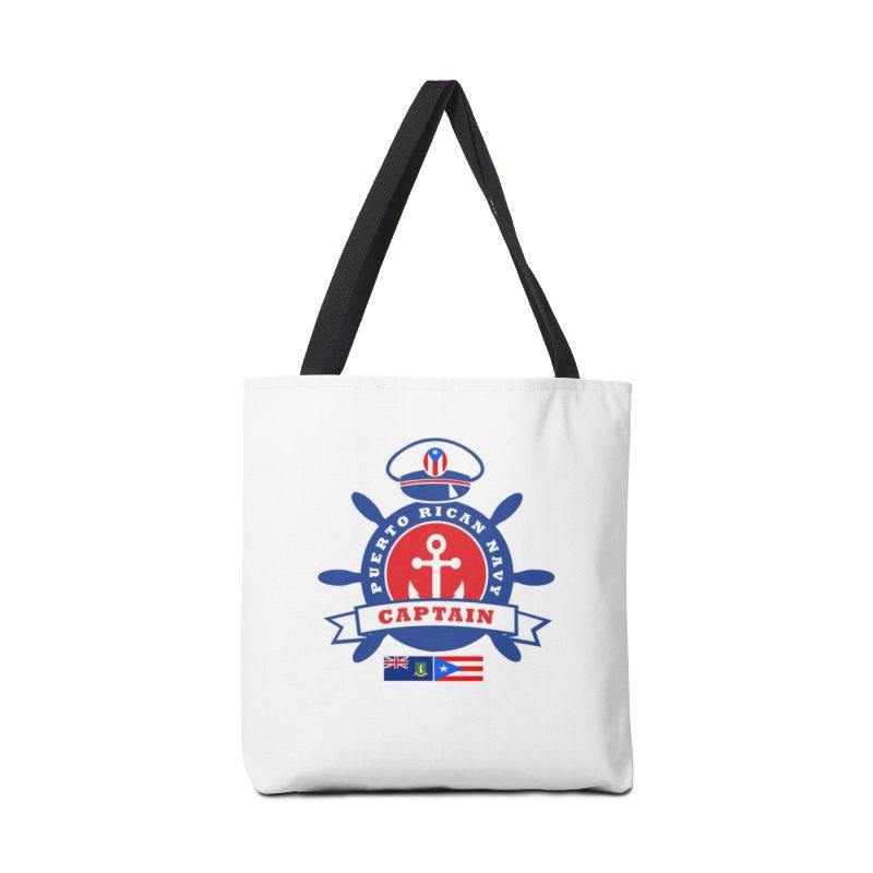 Puerto Rican Navy Accessories Tote Bag Bag by La Tiendita Pepito