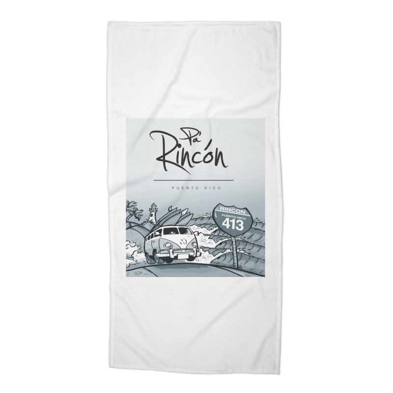 Pa' Rincón (sepia ) Accessories Beach Towel by La Tiendita Pepito