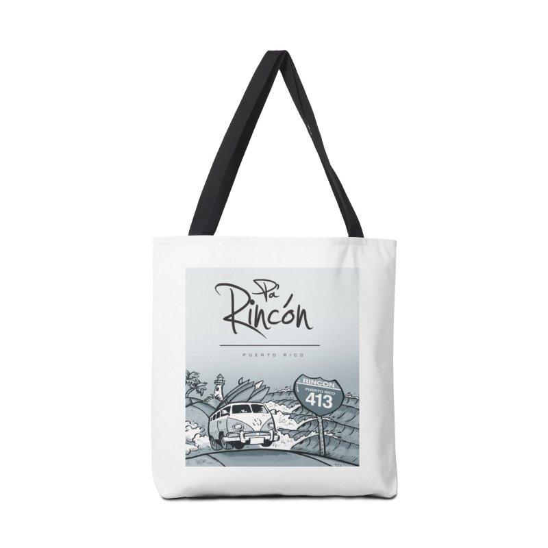 Pa' Rincón (sepia ) Accessories Tote Bag Bag by La Tiendita Pepito