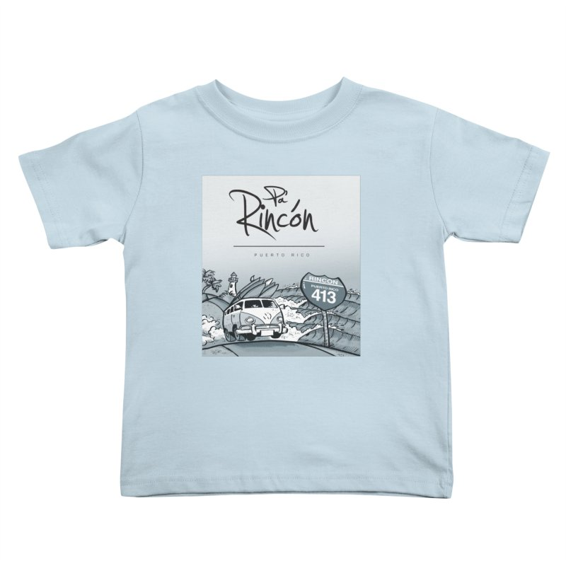 Pa' Rincón (sepia ) Kids Toddler T-Shirt by La Tiendita Pepito