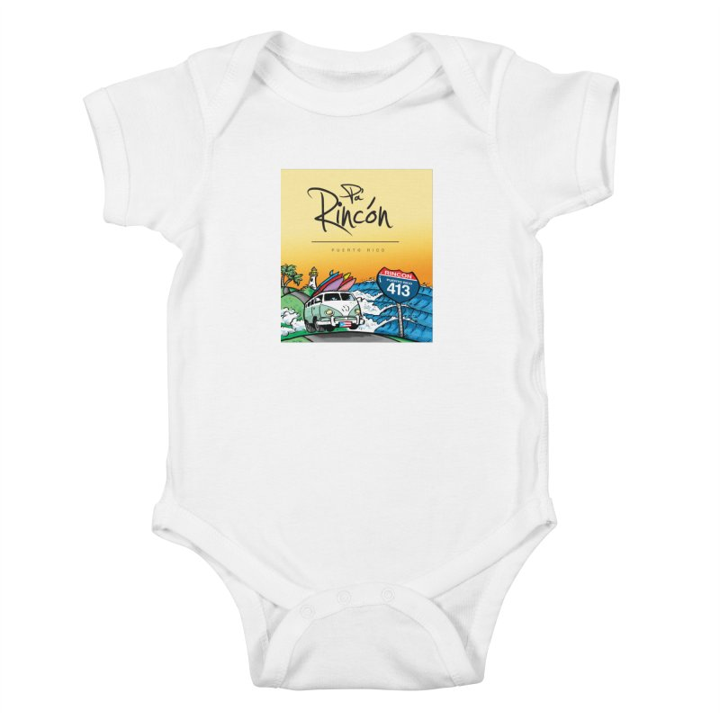 Pa' Rincón ( color ) Kids Baby Bodysuit by La Tiendita Pepito