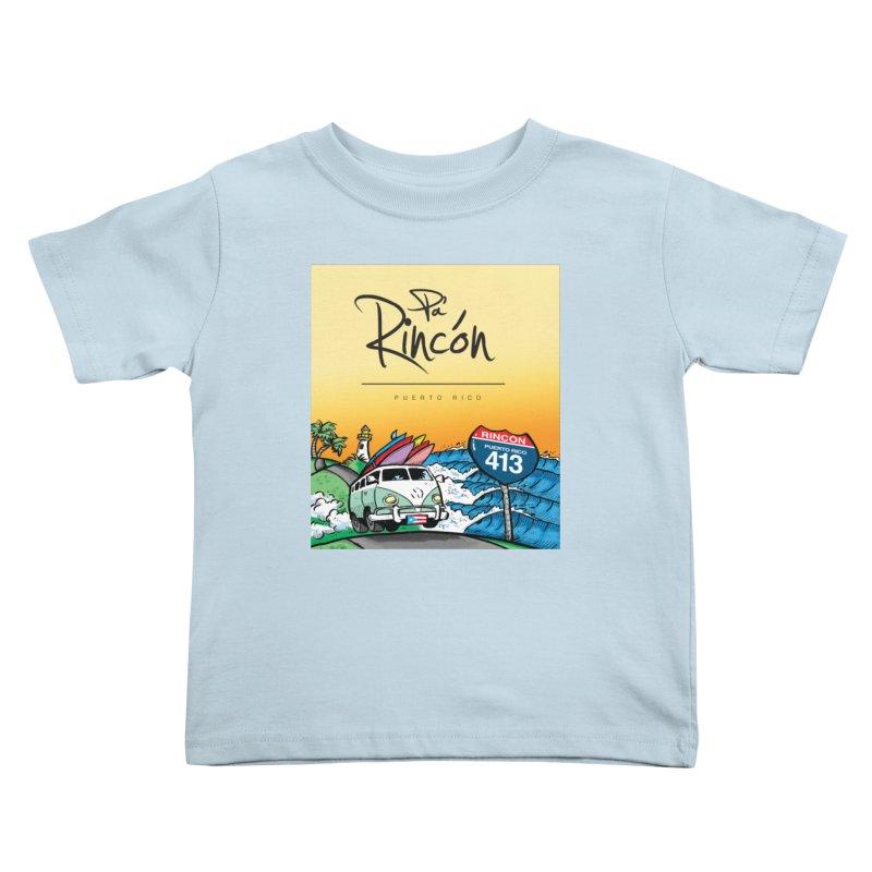 Pa' Rincón ( color ) Kids Toddler T-Shirt by La Tiendita Pepito