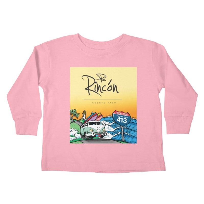 Pa' Rincón ( color ) Kids Toddler Longsleeve T-Shirt by La Tiendita Pepito